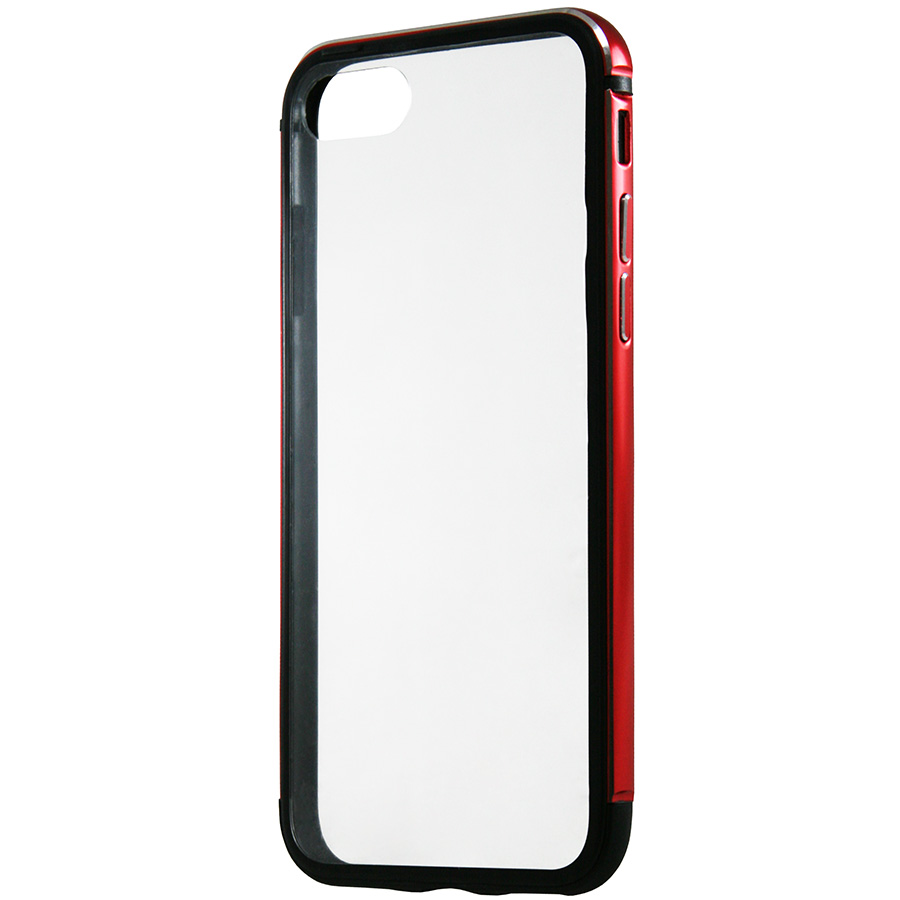 Бампер Metal Hybryd (PC back) iPhone 8 красный