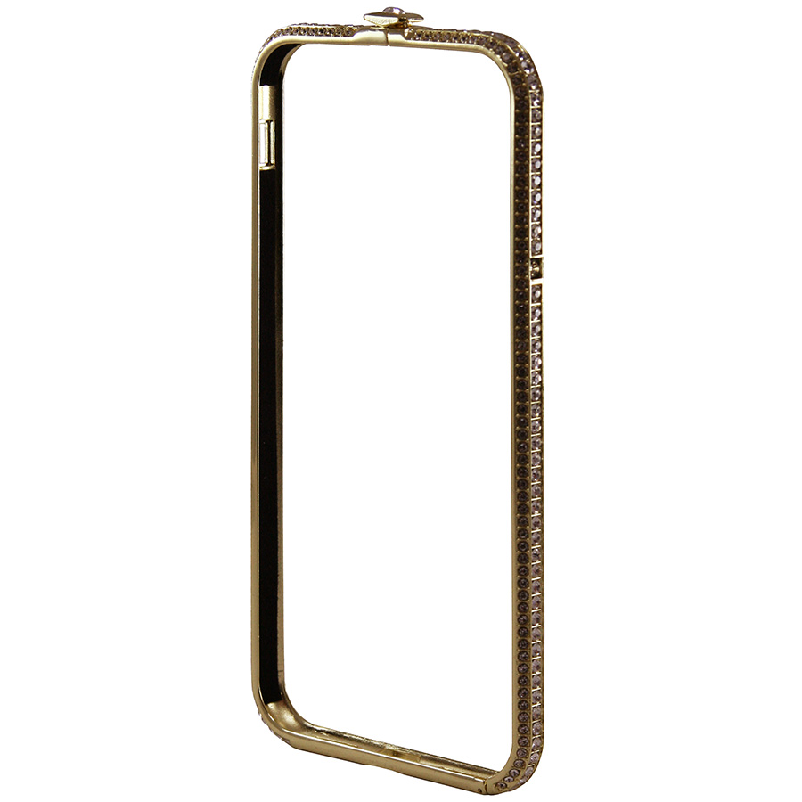 Бампер Metal Diamonds Flat SL iPhone 8 золотой