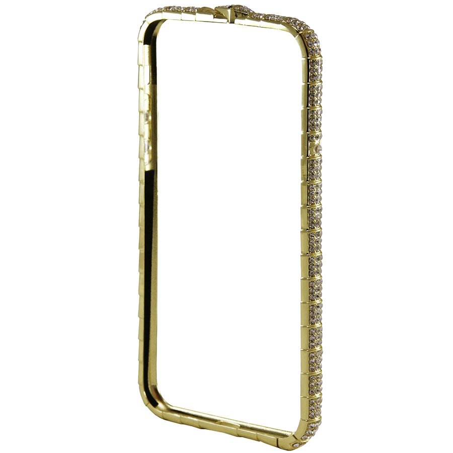 Бампер Metal Diamonds Ribbed SL iPhone 8 золотой