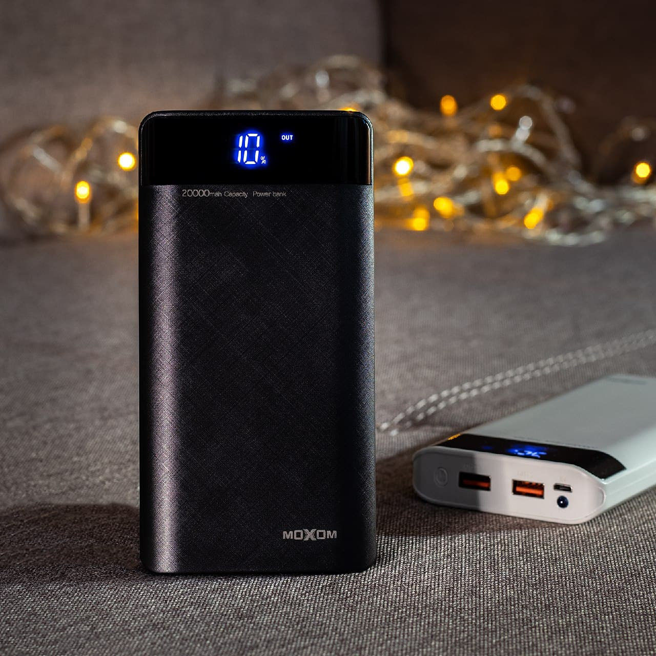 АКБ PowerBank MOXOM MX-PB09 (20000 mAh) черный