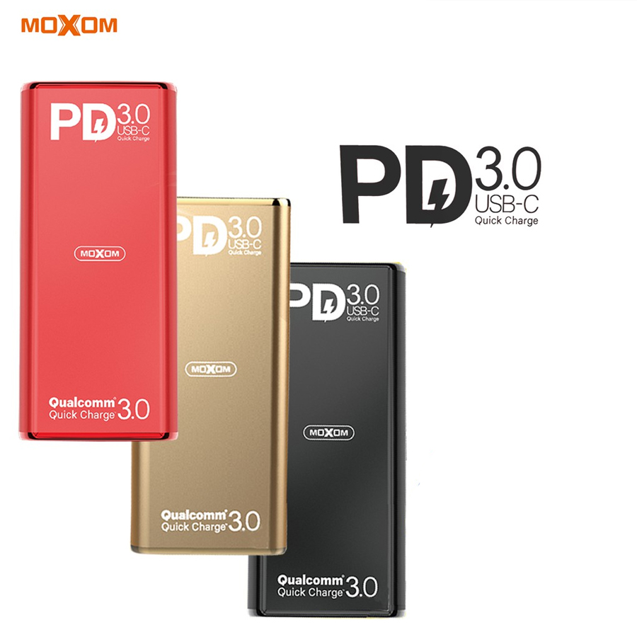 АКБ PowerBank MOXOM MI-11 (10000 mAh) PD 3.0 золотой